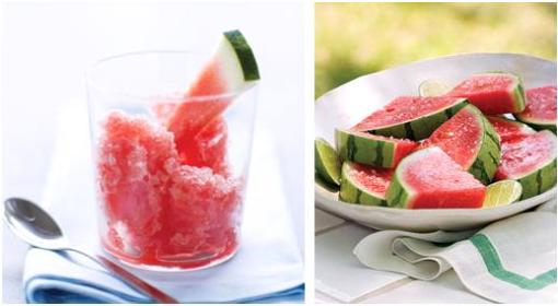 Watermelon Graita picture from www.sunset.com. Sliced Watermelon picture from www.marthastewart.com