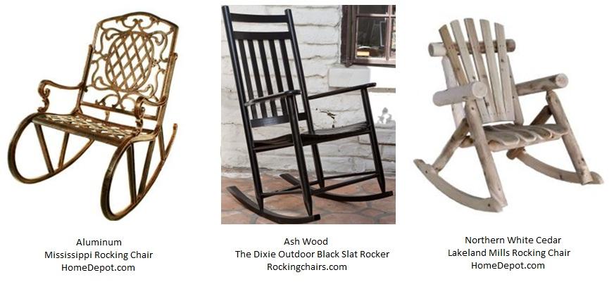 Elegant High Back Rocking Chairs
