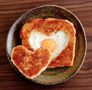 valentines - egg in a hole