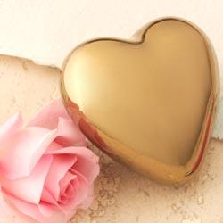 valentines - gold heart